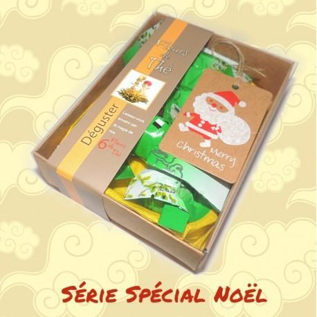 Coffret dégustation de 6 fleurs de thé - SPECIAL NOEL