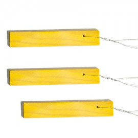 Etiquette bois - 9 x 1,7 cm à suspendre