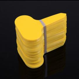 12 étiquettes plastique JAUNE pour semis, bouture, potée - 4,5x2,5cm