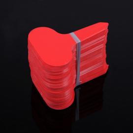 12 étiquettes plastique ROUGE pour semis, bouture, potée - 4,5x2,5cm
