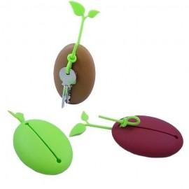 Porte-clés Graine avec attache en silicone