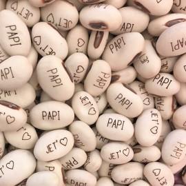 Haricot Magique 'JE T'❤ PAPI' pour faire passer vos messages