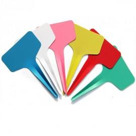 10 étiquettes plastique ROUGE pour semis - 6x10cm