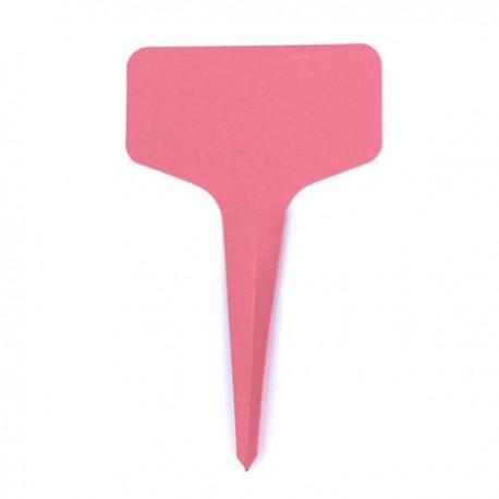10 étiquettes plastique ROSE pour semis - 6x10cm