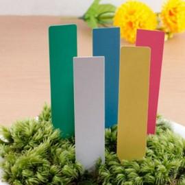 12 étiquettes plastique JAUNE pour semis - 10x2cm
