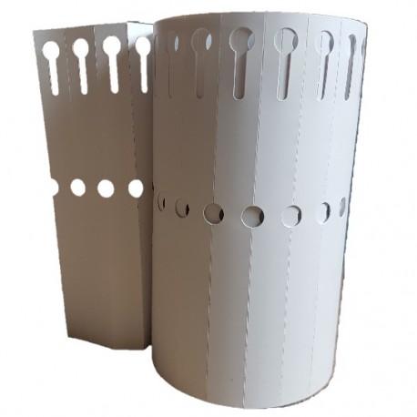 50 étiquettes PVC à boucle BLANC