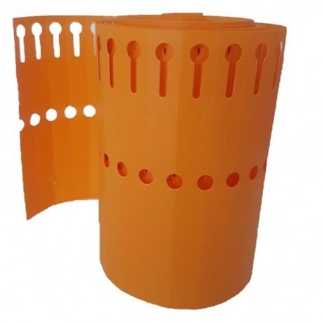 50 étiquettes PVC à boucle ORANGE