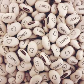 Haricot Magique I LOVE U pour faire passer vos messages