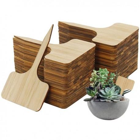 12 étiquettes bambou - 3,7 x 6,5cm