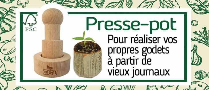 Presse-pot pour semis